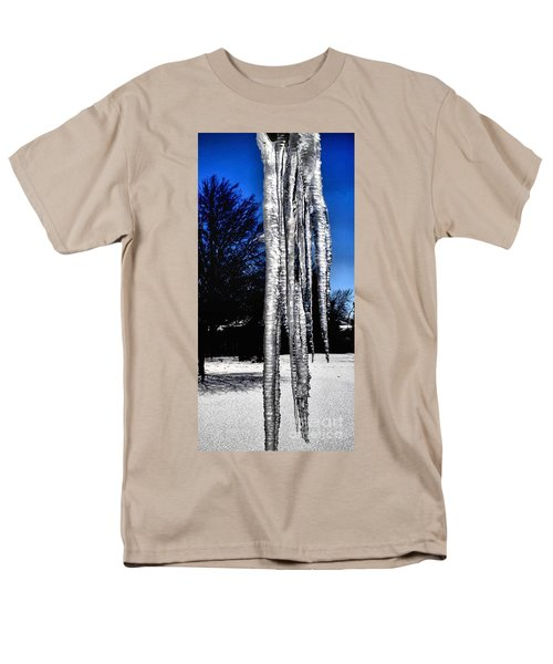 Men's T-Shirt  (Regular Fit) featuring the photograph Blue Ice by Luther Fine Art