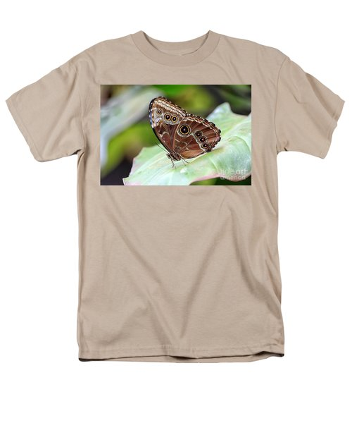Blue Morpho Butterfly Men's T-Shirt  (Regular Fit) by Teresa Zieba