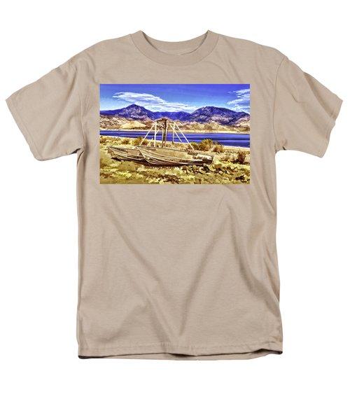 Men's T-Shirt  (Regular Fit) featuring the painting Blue by Muhie Kanawati