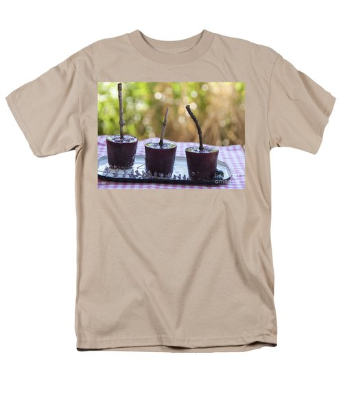 Blueberry Ice Pops Men's T-Shirt  (Regular Fit) by Juli Scalzi