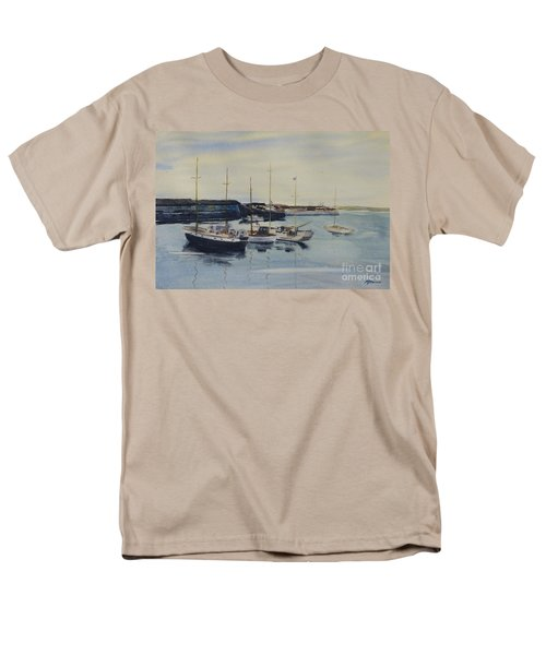 Boats In A Harbour Men's T-Shirt  (Regular Fit) by Martin Howard