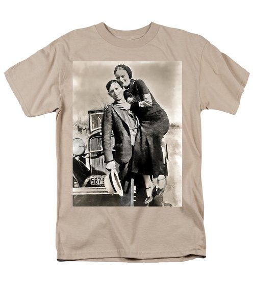 Bonnie And Clyde - Texas Men's T-Shirt  (Regular Fit) by Daniel Hagerman