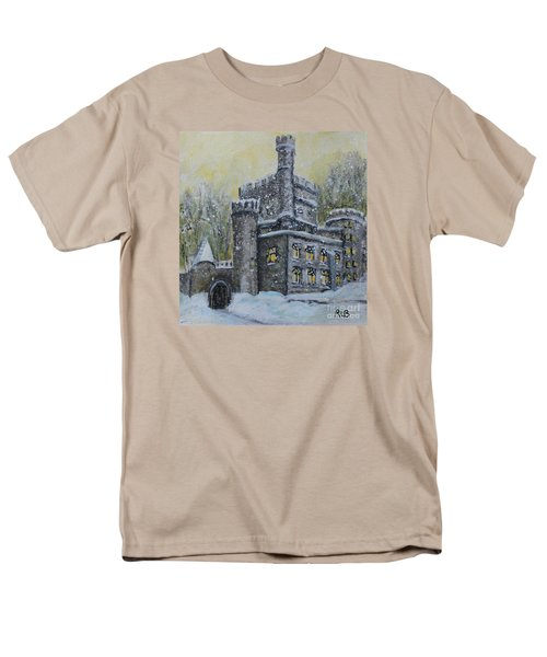 Men's T-Shirt  (Regular Fit) featuring the painting Brandeis University Castle by Rita Brown