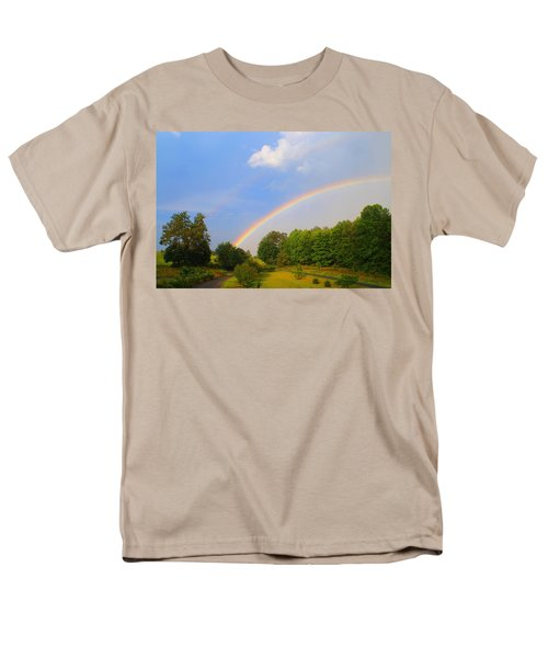 Men's T-Shirt  (Regular Fit) featuring the photograph Bright Rainbow by Kathryn Meyer