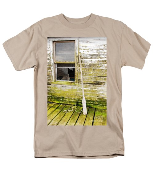 Men's T-Shirt  (Regular Fit) featuring the photograph Broken Window by Mary Carol Story
