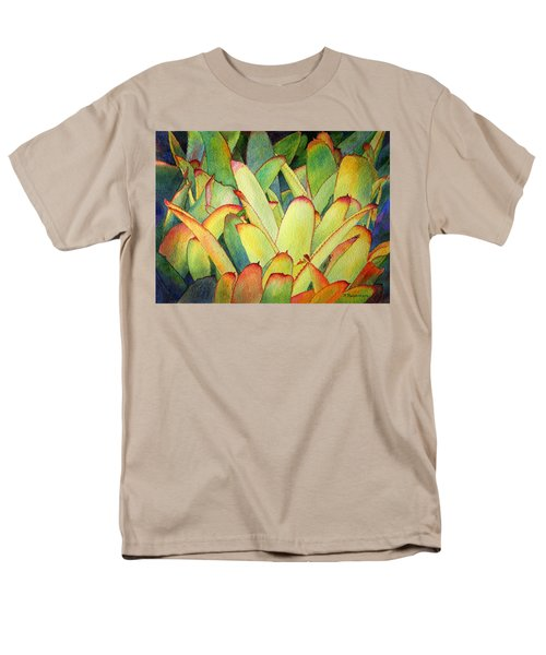 Men's T-Shirt  (Regular Fit) featuring the painting Bromeliads I by Roger Rockefeller
