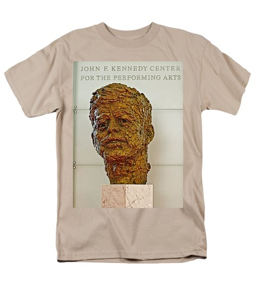 Bronze Sculpture Of President Kennedy In The Kennedy Center In Washington D C  Men's T-Shirt  (Regular Fit) by Ruth Hager