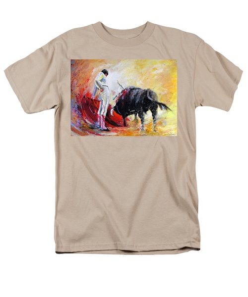 Bull In Yellow Light Men's T-Shirt  (Regular Fit) by Miki De Goodaboom