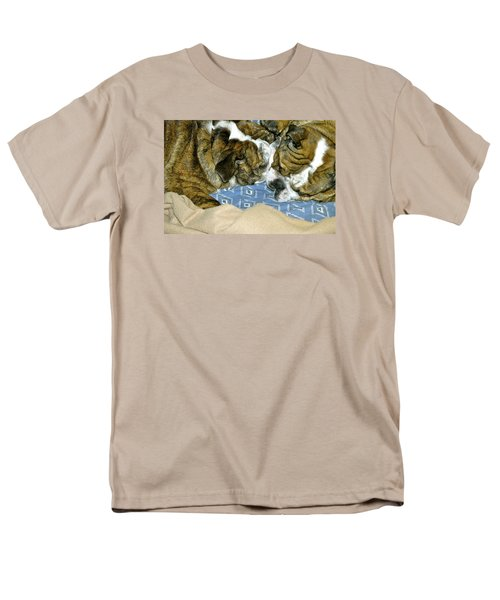 Men's T-Shirt  (Regular Fit) featuring the photograph Bulldog Love Forever  by Lehua Pekelo-Stearns