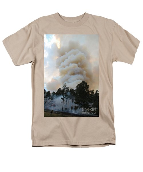 Men's T-Shirt  (Regular Fit) featuring the photograph Burnout Near Song Dog Road by Bill Gabbert