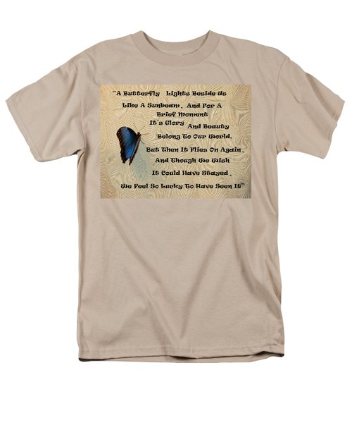 Butterfly Poem Men's T-Shirt  (Regular Fit) by Aimee L Maher Photography and Art Visit ALMGallerydotcom