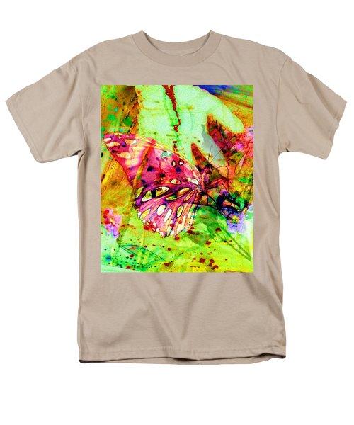 Butterfly That Was A Muscian Men's T-Shirt  (Regular Fit) by David Mckinney
