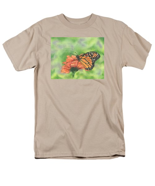 Men's T-Shirt  (Regular Fit) featuring the drawing Butterfly by Troy Levesque