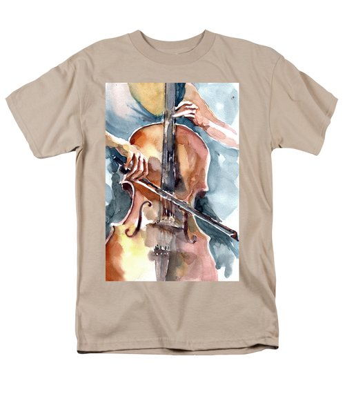Men's T-Shirt  (Regular Fit) featuring the painting Cellist by Faruk Koksal