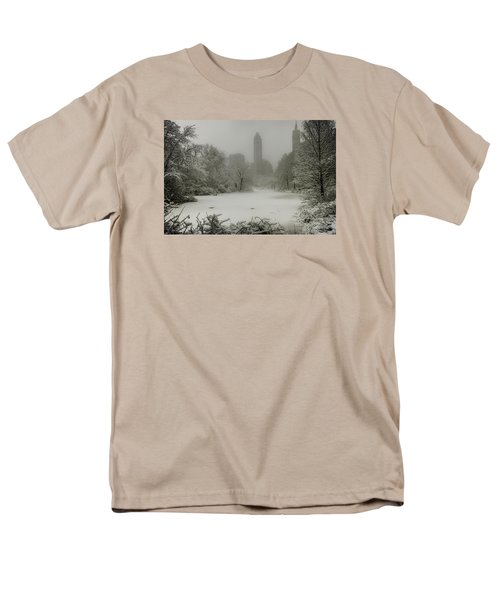 Men's T-Shirt  (Regular Fit) featuring the photograph Central Park Snowstorm by Chris Lord