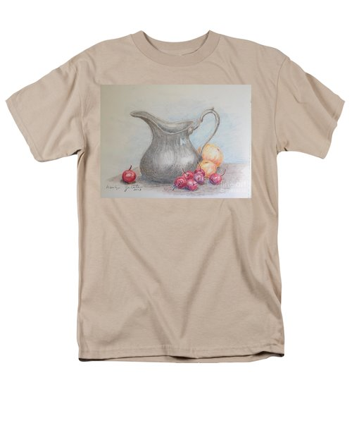 Men's T-Shirt  (Regular Fit) featuring the drawing Cherries Still Life by Marilyn Zalatan