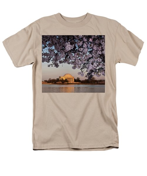 Cherry Blossom Tree With A Memorial Men's T-Shirt  (Regular Fit) by Panoramic Images