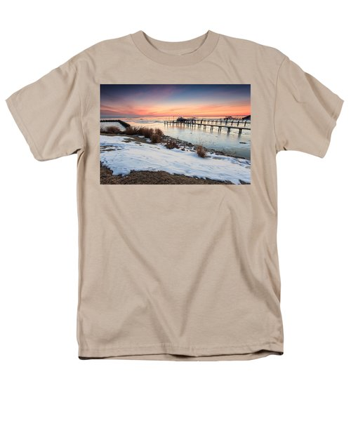 Men's T-Shirt  (Regular Fit) featuring the photograph Chesapeake Bay Freeze by Jennifer Casey