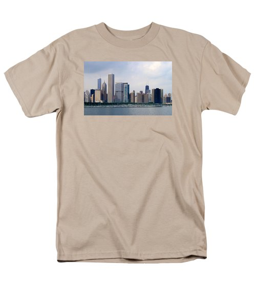Men's T-Shirt  (Regular Fit) featuring the photograph Chicago Panorama by Milena Ilieva