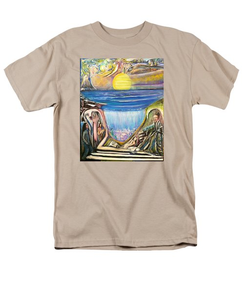 Men's T-Shirt  (Regular Fit) featuring the painting Children Of The Sun by Kicking Bear  Productions