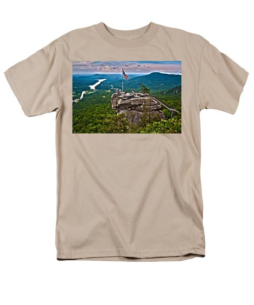 Men's T-Shirt  (Regular Fit) featuring the photograph Chimney Rock At Lake Lure by Alex Grichenko