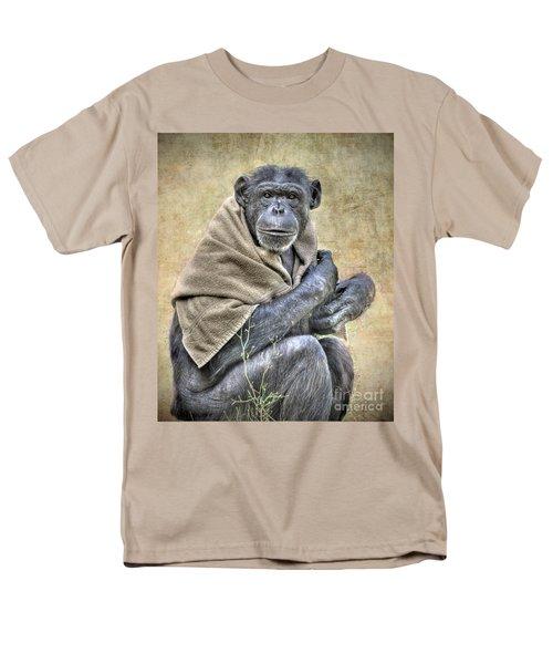 Men's T-Shirt  (Regular Fit) featuring the photograph Chimpanzee by Savannah Gibbs