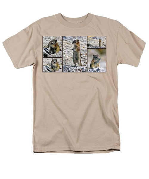 Chipmunk Collage Men's T-Shirt  (Regular Fit)