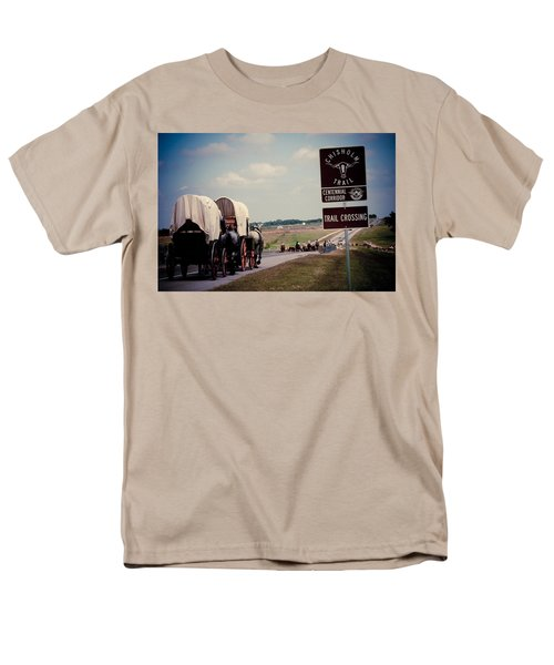 Chisholm Trail Centennial Cattle Drive Men's T-Shirt  (Regular Fit) by Toni Hopper