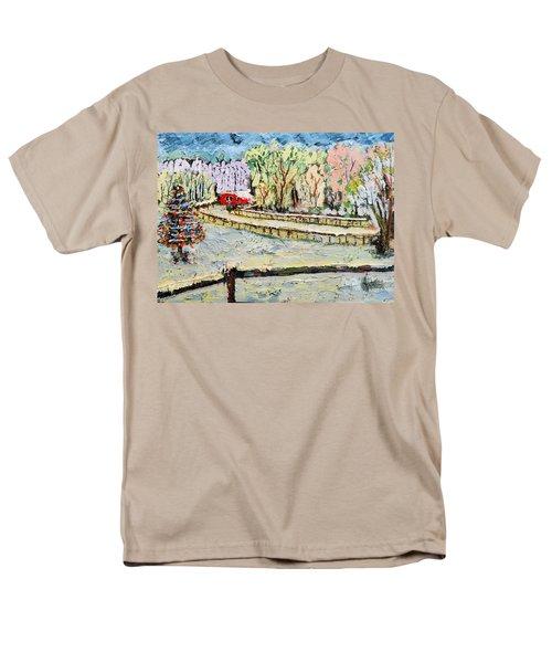Christmas At Cissy's Farm Men's T-Shirt  (Regular Fit) by Michael Daniels