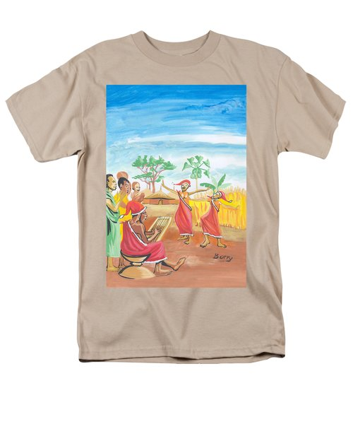 Christmas In Rwanda Men's T-Shirt  (Regular Fit) by Emmanuel Baliyanga