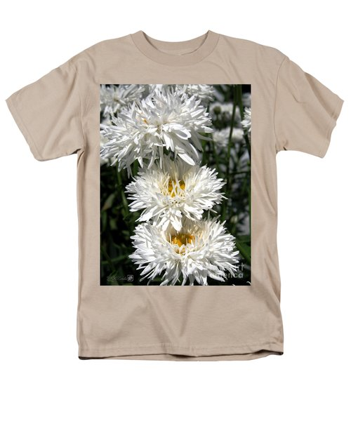 Men's T-Shirt  (Regular Fit) featuring the photograph Chrysanthemum Named Crazy Daisy by J McCombie
