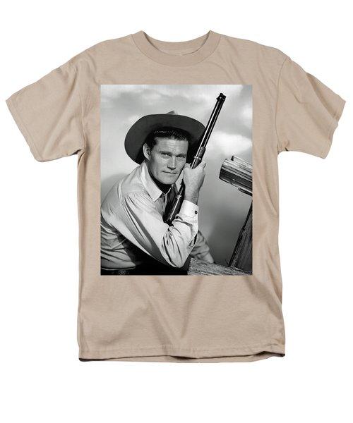 Chuck Connors - The Rifleman Men's T-Shirt  (Regular Fit)