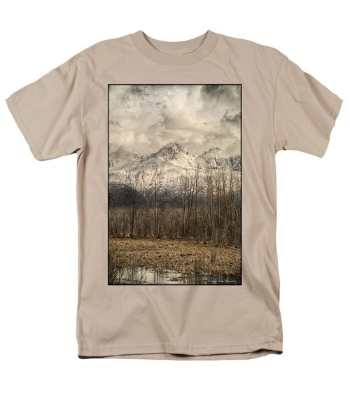 Chugach Mountains In Storm Men's T-Shirt  (Regular Fit)