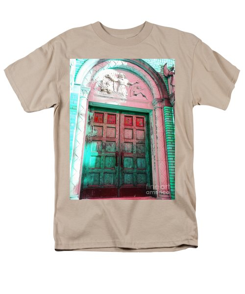 Men's T-Shirt  (Regular Fit) featuring the photograph Church Door by Becky Lupe