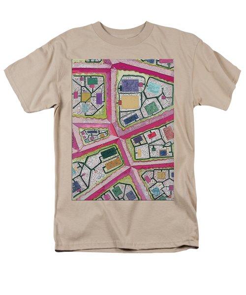 Men's T-Shirt  (Regular Fit) featuring the digital art City Circuits by Carol Jacobs