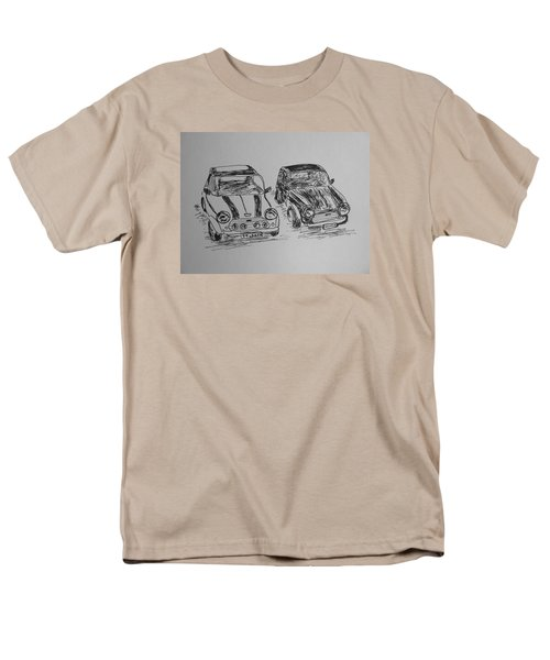 Men's T-Shirt  (Regular Fit) featuring the drawing Classic Minis by Victoria Lakes
