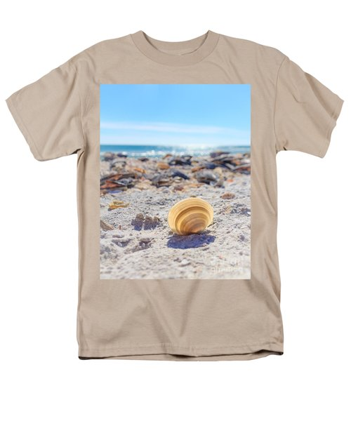 Men's T-Shirt  (Regular Fit) featuring the photograph Cockle Shell Summer At Sanibel by Peta Thames