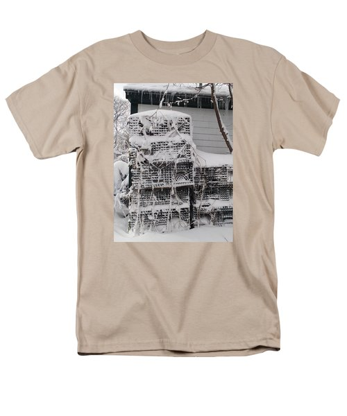 Men's T-Shirt  (Regular Fit) featuring the photograph Cold Lobster Trap by Robert Nickologianis