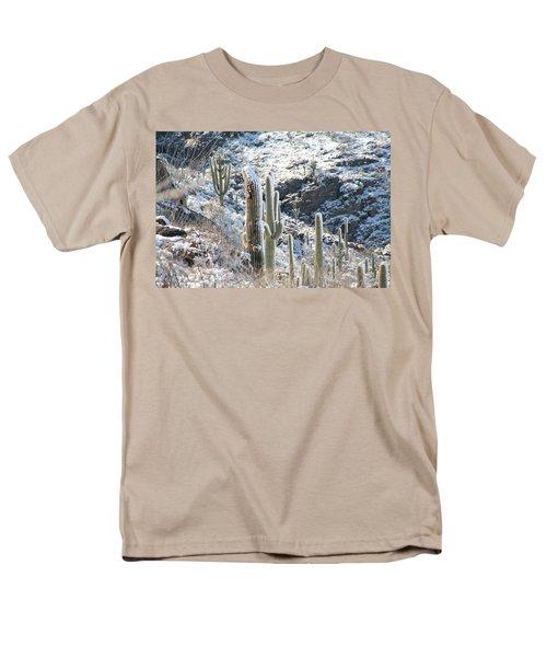 Cold Saguaros Men's T-Shirt  (Regular Fit) by David S Reynolds