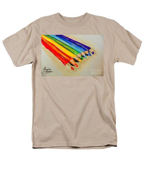 Color Pencils Men's T-Shirt  (Regular Fit) by Marisela Mungia
