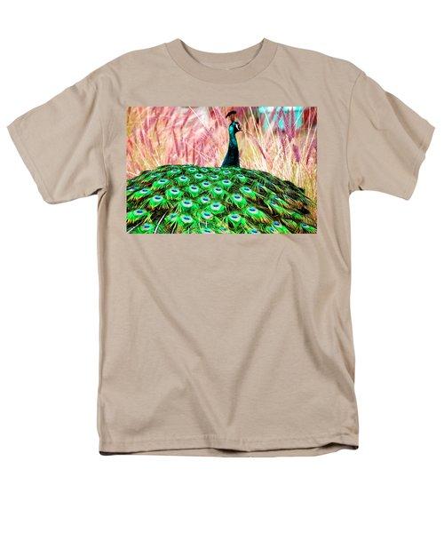 Colorful Peacock Men's T-Shirt  (Regular Fit) by Matt Harang