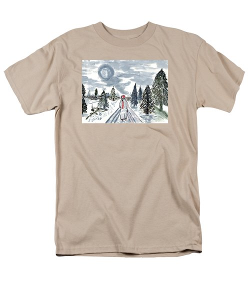 Men's T-Shirt  (Regular Fit) featuring the painting Coming Home by Connie Valasco