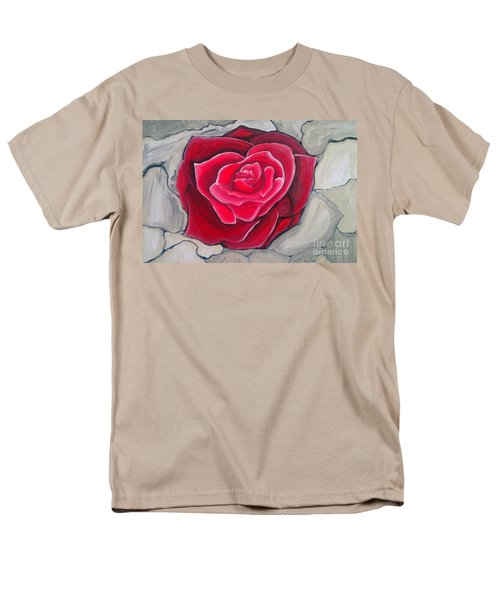 Men's T-Shirt  (Regular Fit) featuring the painting Concrete Rose by Marisela Mungia