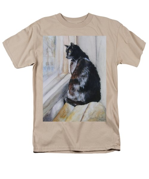 Men's T-Shirt  (Regular Fit) featuring the drawing Couch Potato by Lori Brackett