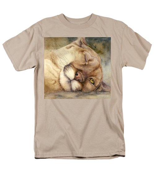 Cougar    I See You     Men's T-Shirt  (Regular Fit) by Bonnie Rinier