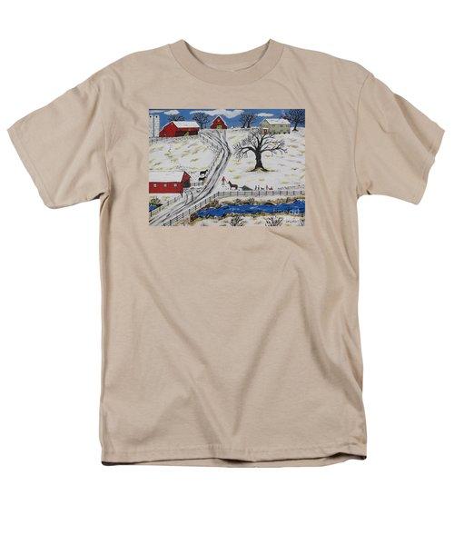 Country Christmas Tree Men's T-Shirt  (Regular Fit)