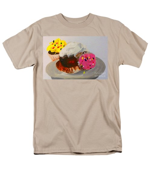 Men's T-Shirt  (Regular Fit) featuring the painting Cupcakes by Marisela Mungia
