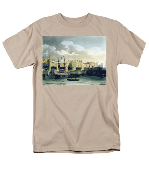 Custom House From The River Thames Men's T-Shirt  (Regular Fit) by T. & Pugin, A.C. Rowlandson