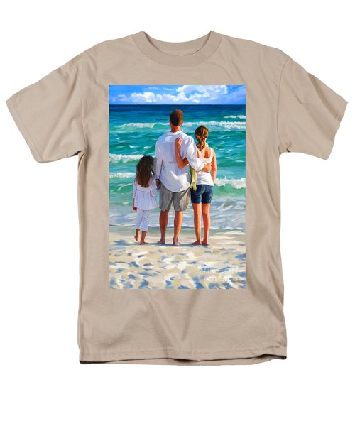 Dad And His Girls Men's T-Shirt  (Regular Fit)