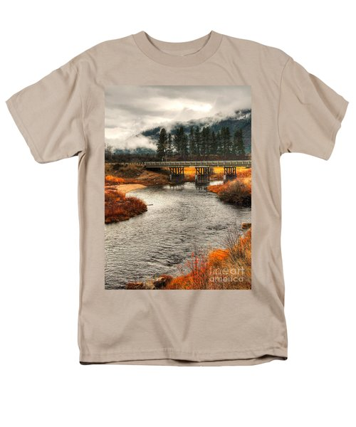 Men's T-Shirt  (Regular Fit) featuring the photograph Daveys Bridge by Sam Rosen